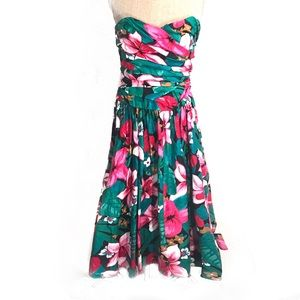 Vintage strapless floral sun dress